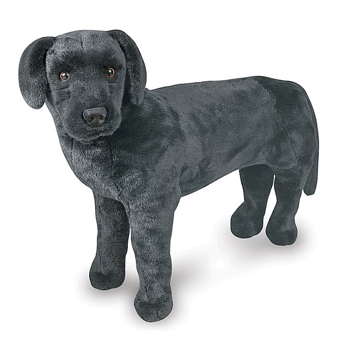 Alternate image 1 for Melissa & Doug® Black Lab Giant Stuffed Animal