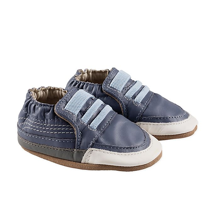Alternate image 1 for Robeez® Finley Soft Sole Sneaker-Style Shoes in Blue