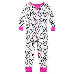 Lamaze® Sketch Hearts Print Organic Cotton Pajama in White