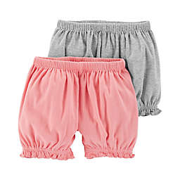 Little Planet™ Organic by carter's® 2-Pack Shorts in Grey/Pink
