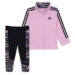 adidas® 2-Piece Zip-Front Jacket and Legging Set in Lilac