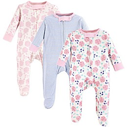 Touched by Nature® 3-Pack Organic Cotton Sleep and Play Sleeper in Pink Rose