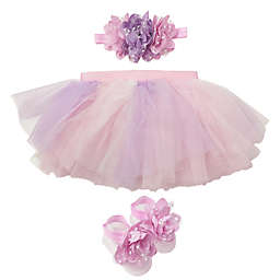 Toby Signature™ 3-Piece Rainbow Headband, Tutu and Foot Wrap Set in Pink/Purple