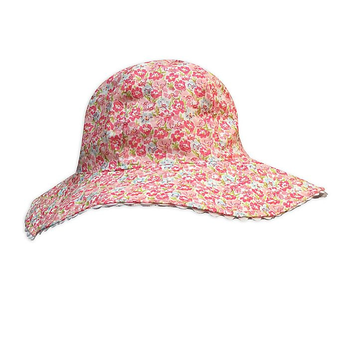 Alternate image 1 for Toby Fairy™ Infant Floral/Eyelet Reversible Sun Hat
