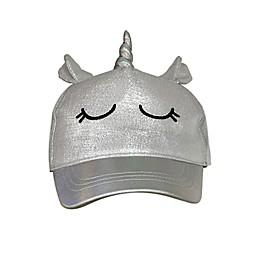 Toby Fairy™ Newborn Unicorn Baseball Cap in Grey
