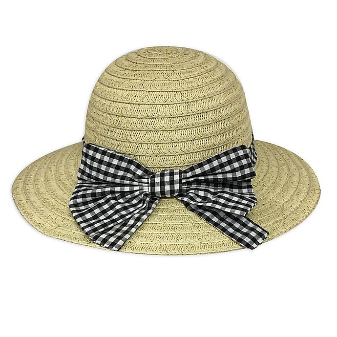Alternate image 1 for Toby Fairy™ Gingham Bow Floppy Hat in Black