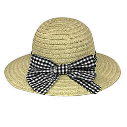 Toby Fairy™ Gingham Bow Floppy Hat in Black