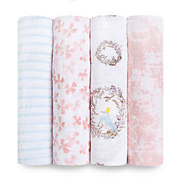 aden + anais® Birdsong 4-Pack Swaddle Blankets in Pink