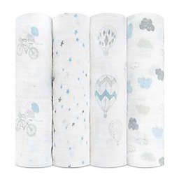 aden + anais® Night Sky Reverie 4-Pack Swaddle Blankets in Blue