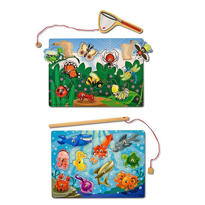 Alternate image 1 for Melissa & Doug® Fishing and Bug Magnetic Catching Game Bundle