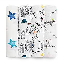 aden + anais® Color Pop 4-Pack Multicolor Swaddle Blankets