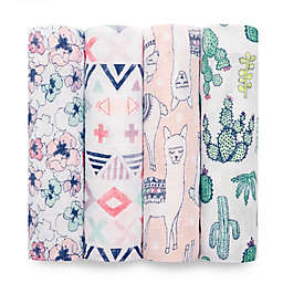 aden + anais® Trail Blooms 4-Pack Multicolor Swaddle Blankets