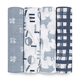aden + anais® Waverly 4-Pack Swaddle Blankets in Blue