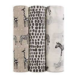 aden + anais® Sahara Motif 3-Pack Swaddle Blankets in Grey