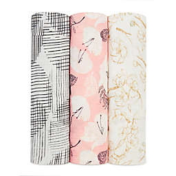 aden + anais® Pretty Petals 3-Pack Swaddle Blankets in Pink