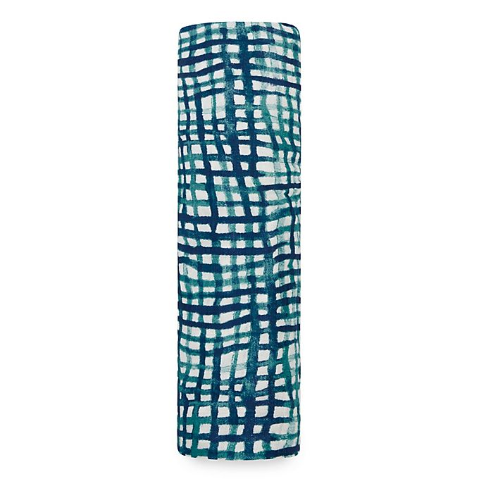 Alternate image 1 for aden + anais® Seaport Swaddle Blanket in Blue