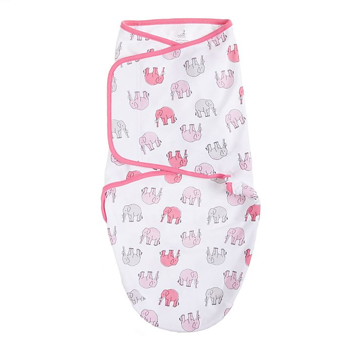 Alternate image 1 for aden® by aden + anais® Elephant Size 0-3M Swaddle in Pink