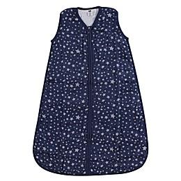 Hudson Baby® Stars Muslin Sleeping Bag in Silver/Navy