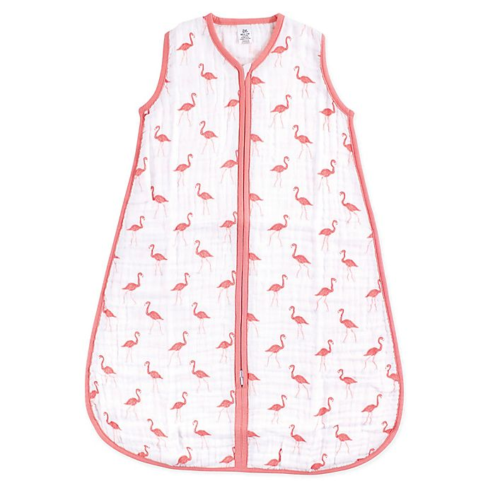 Alternate image 1 for Yoga Sprout Size 0-6M Flamingo Muslin Sleeping Bag