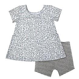 Aimee Kestenberg 2-Piece Leopard Dress and Panty Set in Grey