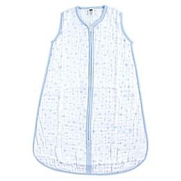 Hudson Baby® Blue Stars Muslin Sleeping Bag