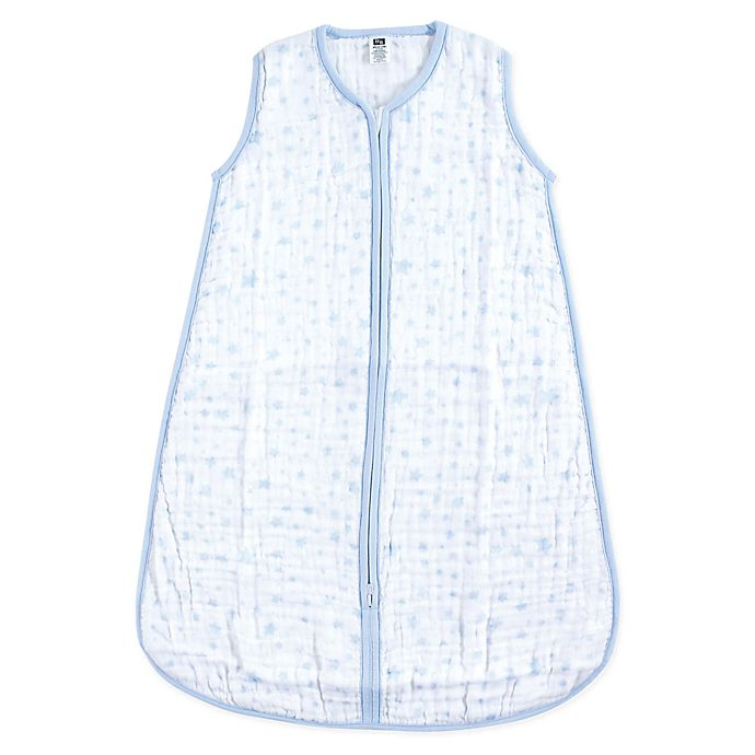 newest 4cac6 9f41f Hudson Baby® Blue Stars Muslin Sleeping Bag   buybuy BABY