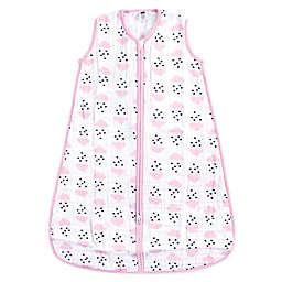 Hudson Baby® Clouds & Hearts Muslin Sleeping Bag in Pink