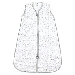 Hudson Baby® Stars Muslin Sleeping Bag in Grey