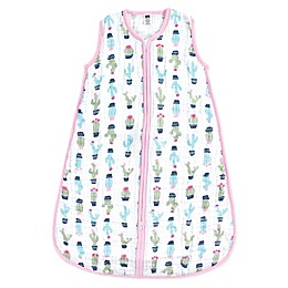 Hudson Baby® Cactus Muslin Sleeping Bag in Green/Pink