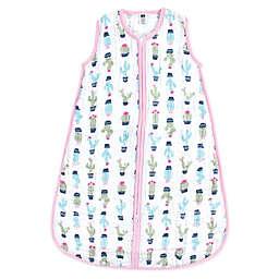Hudson Baby® Cactus Muslin Sleeping Bag in Green/Pink
