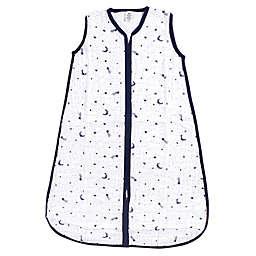Yoga Sprout® Moon Muslin Sleeping Bag in White/Black