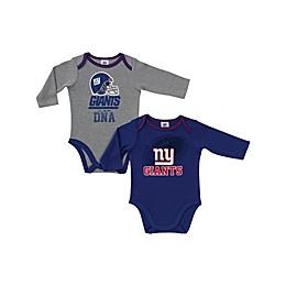 NFL New York Giants 2-Pack Boy Long-Sleeve Bodysuit Set