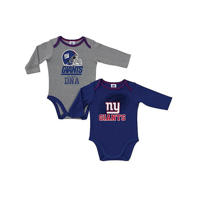 Alternate image 1 for NFL New York Giants 2-Pack Boy Long-Sleeve Bodysuit Set