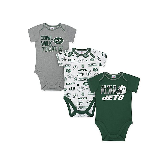 Alternate image 1 for NFL Jets 3-Piece Bodysuits