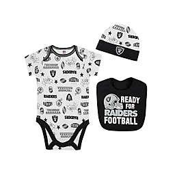 NFL Raiders 3-Piece Bodysuit Set