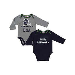 NFL Seattle Seahawks 2-Pack Boy Long-Sleeve Bodysuit Set