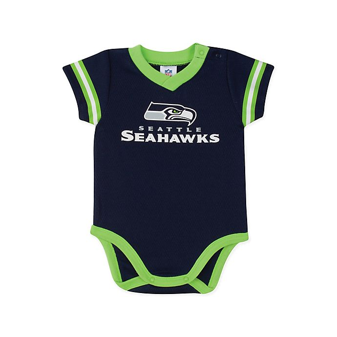 Alternate image 1 for NFL Dazzle Seahawks Size 18M Bodysuit