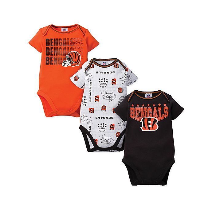 Alternate image 1 for NFL Bengals Size 18M  3-Pack Bodysuit