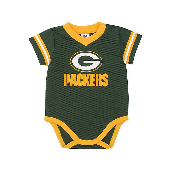 Alternate image 1 for NFL Dazzle Packers Size 18M Bodysuit