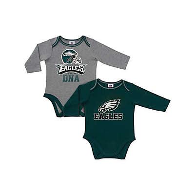 NFL Philadelphia Eagles 2-Pack Boy Long-Sleeve Bodysuit Set