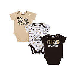 NFL Saints 18M 3-Piece Bodysuit