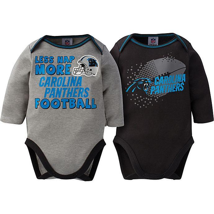 Alternate image 1 for NFL Panthers 18 M 2-Pack Bodysuit