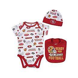 NFL 49ers 3-Piece Bodysuit Set