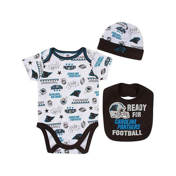 Alternate image 1 for NFL Panthers 3-Piece Bodysuit Set