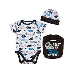 NFL Panthers 3-Piece Bodysuit Set