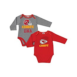 NFL Kansas City Chiefs 2-Pack Boy Long-Sleeve Bodysuit Set