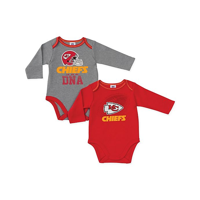 a70ac170 NFL Kansas City Chiefs 2-Pack Boy Long-Sleeve Bodysuit Set | buybuy BABY