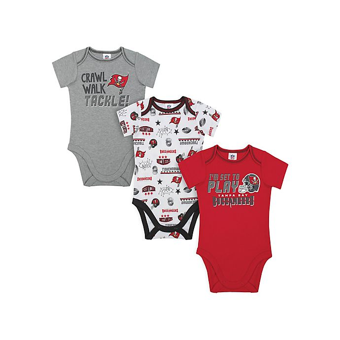 Alternate image 1 for NFL Buccaneers 3-Piece Bodysuits