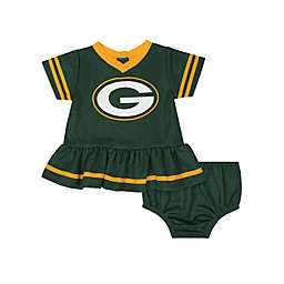 NFL Green Bay Packers Girls Dazzle Dress with Panty Set