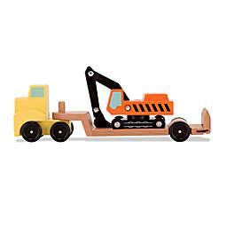 Melissa & Doug® Trailer & Excavator Wooden Vehicles Playset
